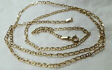 14k yellow solid gold  chain,22 inch, 2 mm
