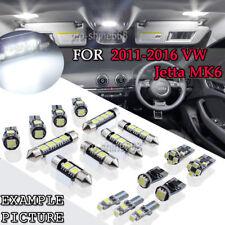 11x White Interior LED Lights Package Kit for 2011-2016 Volkswagen Jetta MK6 PQ