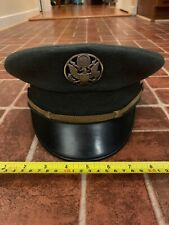 Vintage Early Air Corps Enlisted Dress Visor Hat ? With Screw Pin Buttons 7 3/8