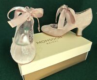 New MONSOON Nude Beige 4 (37) Lace IZABELA Ribbon Bridal Wedding Mary-Jane Shoes