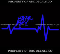 VRS Heart Beat Line FOOTBALL Special Teams Kicker Punter Ball CAR VINYL DECAL