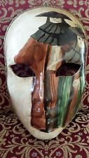 Genuine Venetian hand painted paper mache masquerade Mask full face Venice Italy