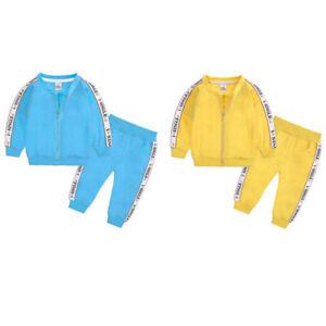 Kids Boys Girls Sports Hoodie Trouser Suit Fashion Cotton Tracksuit 2PCS Set