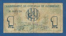 AJUNTAMENT DE CORNELLA DE LLOBREGAT -- 1 PESETA ( 1937 ) -- BC -- SIN SERIE