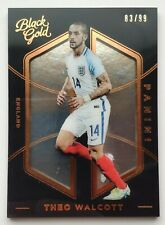 2016-17 Panini Black Gold 83/99 Theo Walcott Parallel Card