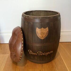 Champagne Barrel Seat. Vintage style Champagne storage - Dom Perignon Stool
