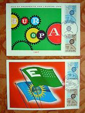 LOT DE 2 CARTES PHILATELIQUES 1° JOUR - EUROPA 1967