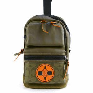 Coach Michael B Jordan Collaboration Naruto 7359 QBPD9  Shoulder Bag Green New