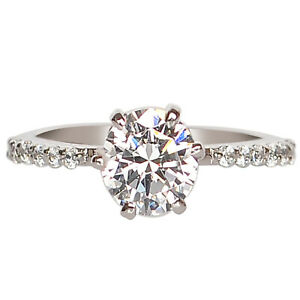 2.25 Carat D/VVS1 Round Shape Women's Engagement Ring In 925 Sterling Silver