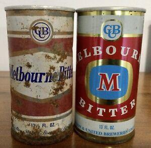 Melbourne Bitter. 13-1/3FL.OZ. & 13FL.OZ. Steel Beer Cans.