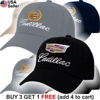 Cadillac Logo Cap GM CTS Escalade XTS SRX ATS ELR Emblem Embroidered Hat Caddy
