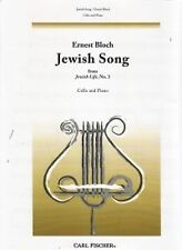 BLOCH JEWISH SONG (No3 from Jewish Life) Cello*