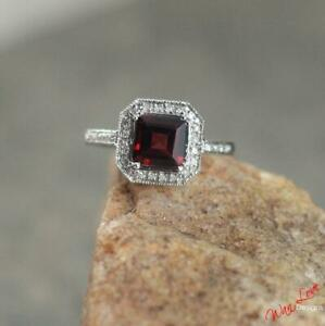 2.55Ct Red /& White Half Round Cut Diamond Engagement Pokemon Ring In 925 Silver