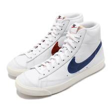 Nike Blazer Mid 77 White Red Blue Alternate Snakeskin Swoosh Men Shoe CW7073-100
