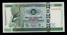 UGANDA REPLACEMENT 20000 SHILLINGS  1999  ZA  PICK # 42 AU-UNC BANKNOTE.