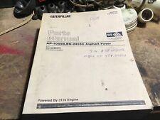 Caterpillar AP-1055B BG-2455C Asphalt Pavers Parts Manual KAEBP03300 2004