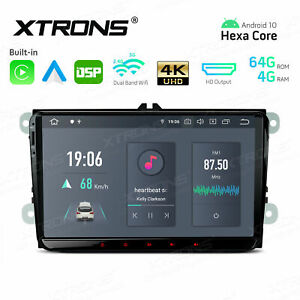"""9"""" Android 10 6-Core 4+64GB Car Stereo GPS Radio Car Auto Play 4K WiFi For VW"""