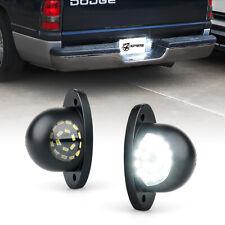 Xprite Black LED License Plate Lights Assembly for 1994-2002 Dodge Ram Trucks
