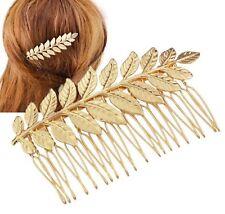 Women Lady Boho Wedding Rose Gold Leaf Color Bride Dance Hair Comb head piece