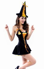 Women's Sexy Pink Candy Witch Halloween Fancy Dress Costume Halloween