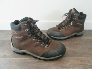 Vasque Mens Hiking Trail Boots Brown  Leather Lace Up Padded Collar 11.5 M