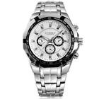 Curren 8084-1-Silver/Black/White Stainless Steel Watch
