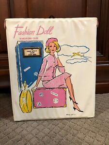 1960's vintage white Fashion Doll wardrobe case