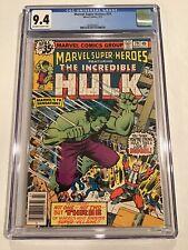 Marvel Super Heroes #79 Featuring Incredible Hulk Vs Mogul! 1978 CGC 9.4