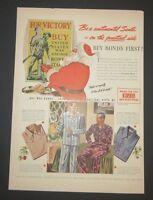 Original 1942 Print Ad BVD Corporation Buy War Bonds Practical Gifts