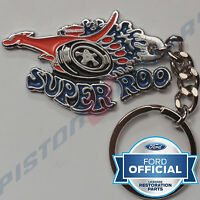 SUPER ROO KEYRING KEY CHAIN like badge Chrome for FORD FALCON XY XW XA XB 351 GT