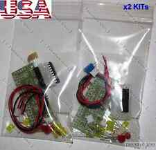 2x LM3915 DIY KIT Audio Level Meter [LED VU Meter Arduino] FULL Parts - USA