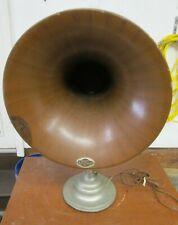 "Antique Nathaniel Baldwin Hawley 15"" Radio Horn Speaker"