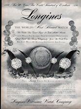 1956 Longines-Wittnauer Men Women Watch McKinley Coronation Chancellor PRINT AD