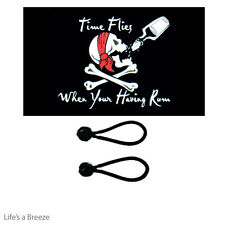 Pirate Flag Time Flies  5 x 3 Ft Comes With Free Ball Ties.Great On A Flag Pole