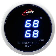 52mm Dual Air Intake Intercooler Temperature Gauge Meter Blue Digital LED SMOKE