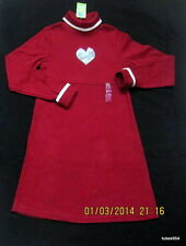 Gymboree Tiger Love Club Faux Fur Heart Valentine Red White Sweater Dress 9 NWT