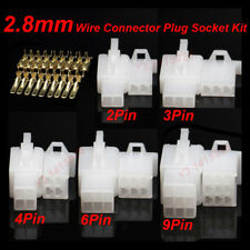 2P/3P/4P/6/9Pin Way 2.8mm Electrical Wire Connector Plug & Socket Kit F Car Auto