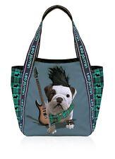 Teo Jasmin French British English Bulldog Large Tote Handbag Shopper Punk Kawaii