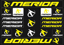 Merida Mountain Bicycle Frame Decals Stickers Graphic Adhesive Set Vinyl Yellow