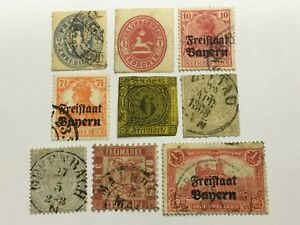 old stamps  GERMAN TERRITORIES      x   9