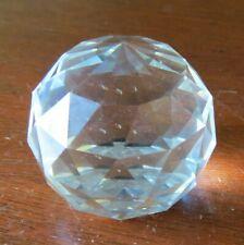 Swarovski Crystal Faceted Sphere Paperweight