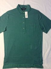 NEW POLO GOLF RALPH LAUREN VINTAGE COTTON LISLE GREEN/PURPLE STRIPE SIZE MEDIUM