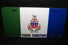 YUKON TERRITORY  FLAG CAR LICENSE PLATE  BANDE DU TERRITOIRE DU YUKON