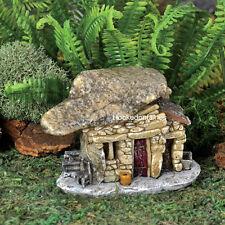 Miniature Micro Rock Top Troll House w/Flower Pot GO 17445 Fairy Garden