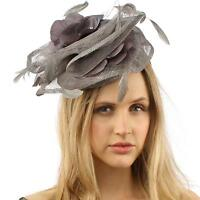 Sinamay Disc Feathers Floral Fascinators Headband Millinery Cocktail Hat