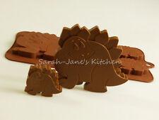 4 +1 Dinosaurio Kids Chocolate Candy Cookie Bakeware del silicón Molde Pastel Cera Crayon