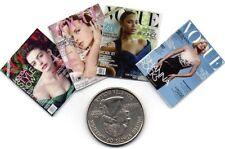 4 Miniature 'Vogue' Magazines - Dollshouse 1:12 scale Opening Pages