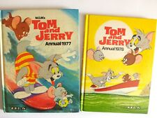 2 TOM AND JERRY ANNUALS 1977 & 1978 Vintage Cartoon annuals