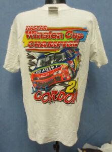 JEFF GORDON XL SHIRT 3 SIDED NASCAR MENS VINTAGE RETRO VTG DUPONT COMPETITORS