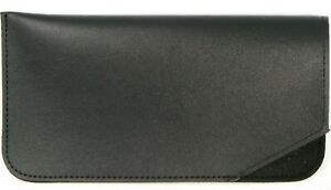 NEW Soft Eyeglasses Glasses Black Case Pouch With Cleaning Cloth 160x82mm